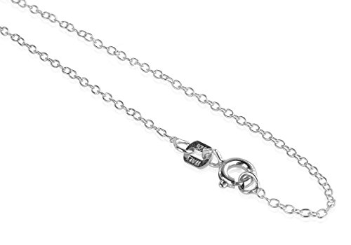 Sterling Silver Link Chain 18'' Inch For Girls And Women By OMG Jewelry (18' Go Game)