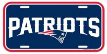 WinCraft NFL New England Patriots License Plate, Team Color, One Size
