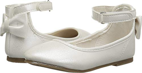 carter's baby-girls' Arietta Ballet Flat, Ivory, 6 M US Toddler -