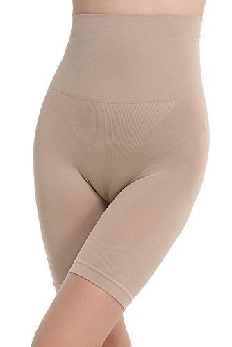 Franato Thigh Shapewear Hip Shaper Super Higher Power Panties Waist Cincher Large Nude
