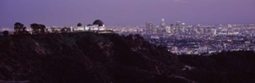 Posterazzi PPI125067S Aerial View of a Cityscape Griffith Park Observatory Los Angeles California USA 2010 Poster Print, 18 x ()