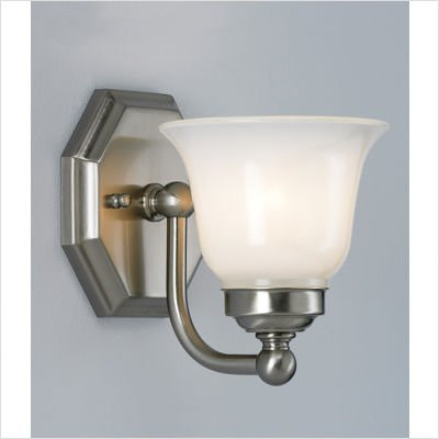 Trevi One Light Wall Sconce with Bell Shade -