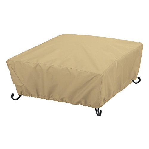 Classic Accessories 59922-EC Terrazzo Full Coverage Square Fire Pit Cover, 30-Inch