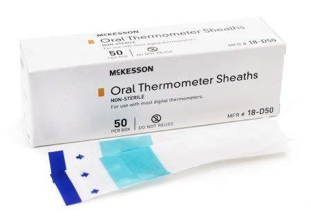 MCKESSON Oral Thermometer Sheath Medi-Pak Digital Thermometer (#18-D50, Sold Per Case)