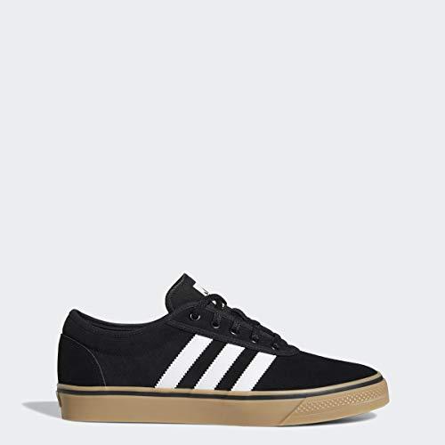 adidas Originals Men's Adiease Sneaker, Black/White/Gum, 10 M US