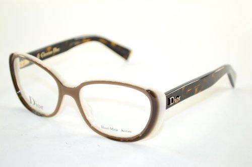Dior Montures de lunettes CD3244 Pour Femme Black / Tortoise / Black, 50mm T6W: Brown / Milk / Dark Tortoise