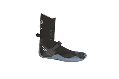 Split Toe Wetsuit Booties - Xcel Infiniti 3mm Split Toe Boot Fall 2017, Black/Grey, 11