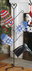 Wrought Iron Heart Mitten And Boot Dryer 4 Pair (Iron Dryer Wrought Mitten)