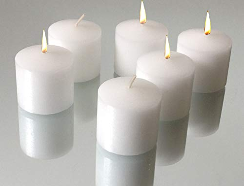 - Inspired Candles 10 Hour Natural Soy Wax and Paraffin Wax Unscented Smokeless Votive Candles, White, Set of 72