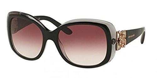 Bvlgari Women's BV8172BF Sunglasses Top Black On Grey Cry...