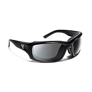 7 Eye Air Shield Panhead Sunglasses,Photochromic Day Night Eclypse Lens,Glossy Black Frame,M-XL