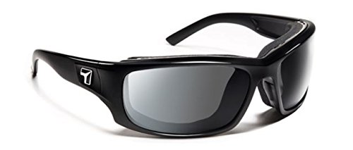 7 Eye Air Shield Panhead Sunglasses,Photochromic Day Night Eclypse Lens,Glossy Black Frame,M-XL