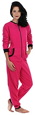 Sleepyheads Women's Adult Non Footed Fleece Color Onesie Pajama Jumpsuit
