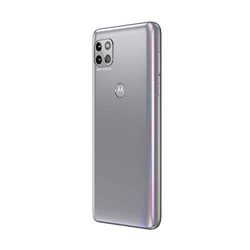 Motorola Moto G 5G Dual-SIM 128GB ROM + 6GB RAM (GSM Only   No CDMA) Factory Unlocked 5G/LTE Smart Phone (Frosted Silver) – International Version