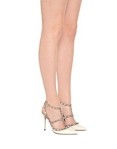 Alti Caitlin Caviglia EU Strap Corte Moda Borchie da Sandali alla Scarpe Punta 35 con Donna Festa Tacchi White Pan Cinturini 45 Nude Stiletto Punta a xvrvqI