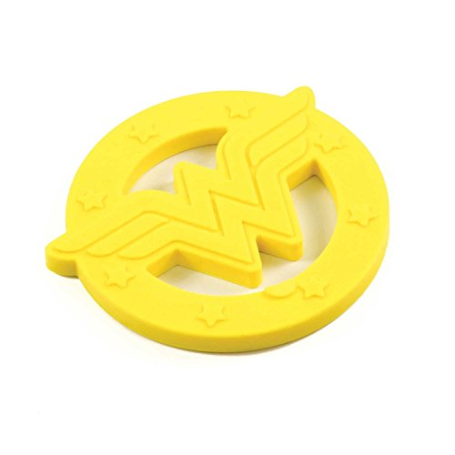 Bumkins DC Comics Wonder Woman Silicone Teether, Textured, Soft, Flexible, Bacteria Resistant]()