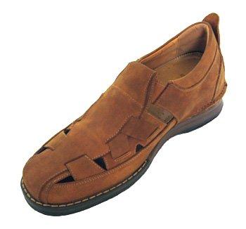 V-CALTO 3250-7,11 (2,8)-Tappetto cm, altezza aumentare ascensore Shoes-Sandali da donna, motivo: pescatore, colore: marrone
