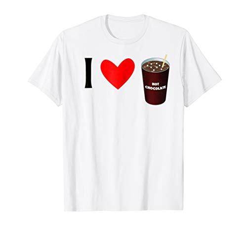 I Love Hot Chocolate Tshirt - Hot Cocoa Tee