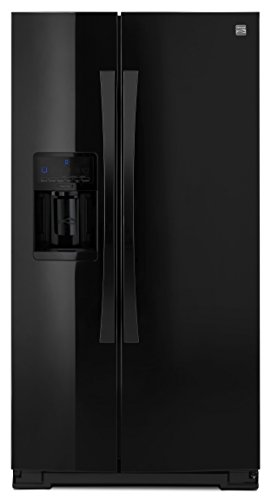 Kenmore Elite 51779 28 cu. ft. Side-by-Side Refrigerator with Accela Ice Technology in Black, includes delivery and hookup