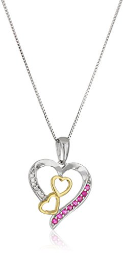 Sterling-Silver-Created-Ruby-and-Diamond-Heart-Pendant-Necklace-18