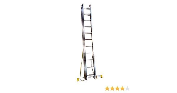 3.99 M Trade Master escalera/escalera extensible de 3 secciones con estabilizador integrado PLUS escalera abrazaderas: Amazon.es: Bricolaje y herramientas