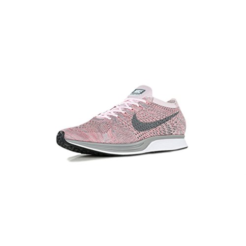 Nike Hommes Flyknit Racer Perle Rose / Gris 526628-604