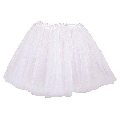 Top Rated Classic Elastic Ballet-Style Adult Tutu Skirt, by BellaSous. Great princess tutu, adult dance skirt, petticoat skirt or pettiskirt tutu for women. Tulle fabric - White tutu