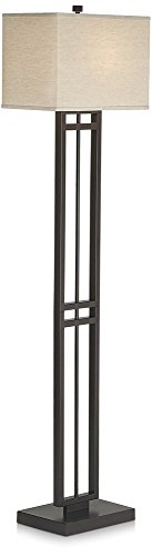 Pacific Coast Lighting 85-2470-20 Central Loft 1-Light Floor Lamp, Bronze Finish with Linen Fabric Shade by Pacific Coast Lighting
