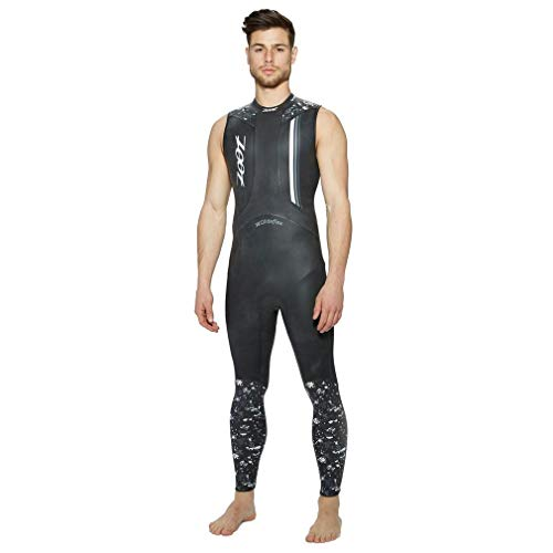 (Zoot Sports 2017 Men's Wave 1 Sleeveless Wetsuit (Black/White - XS))