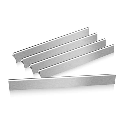 Hisencn Flavorizer Bars Replacement for Weber Genesis (3 Burners) 300 Series E-310/E-320 S-310/S-320 EP/CEP-310 & 320 (with Side Control), 24.5 inch Stainless Steel Flavor Bar(Set of 5), 7540 ()