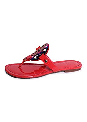 e9937f48d63bc Image Unavailable. Image not available for. Color  Tory Burch Vermillion  Red Miller ...