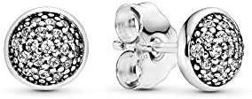 Pandora Jewelry Pave Stud Cubic Zirconia Earrings in Sterling Silver