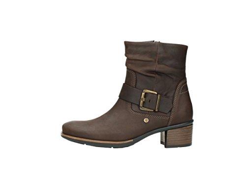 Comfort coyote Pelle 50300 Boots Wolky 00930 ingrassata marrone SwzdSB