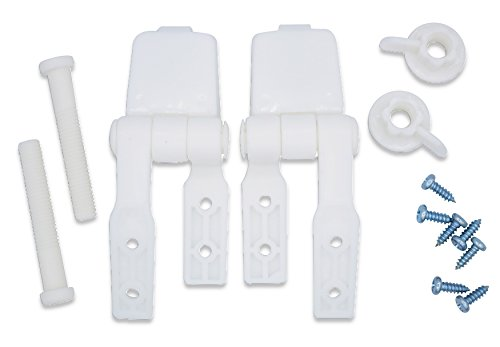 White Plastic Toilet Seat Hinge Replacement with Bolts Screw and Nuts Bemis Toilet Seat Hinges