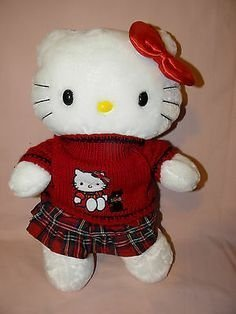 1a241a3ae Image Unavailable. Image not available for. Colour: Build a Bear Hello  Kitty Large White 18 in. Stuffed Plush HK Sanrio Toy Animal