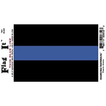 Amazoncom Thin Blue Line Police Sheriff Car Decal  Sticker - Truck rear window decals   how to purchase and get a great value safely