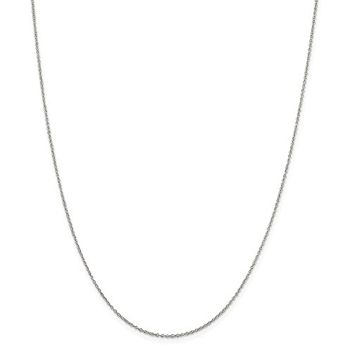- Solid 925 Sterling Silver 0.5mm Cable Chain Necklace 18