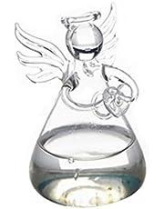 Cumturming Set Of Cute Clear Glass Angel Shape Flower Plant Hanging Vase Wedding Decor