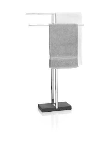 Blomus Floor Standing Towel Rack Stand, Polished Stainless Steel by Blomus