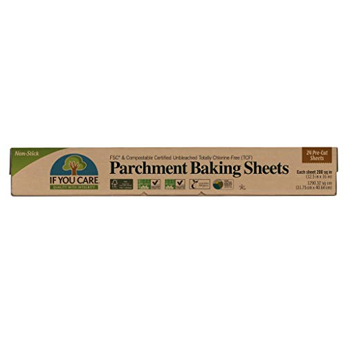Recycled Parchment Paper - IF YOU CARE Unbleached Baking Paper In Sheets, 24-Count Boxes (Pack of 12)