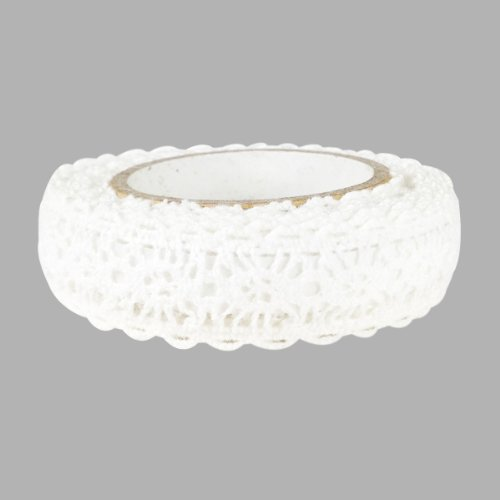 - Wrapables Decorative Lace Tape, 200cm by 15mm, White