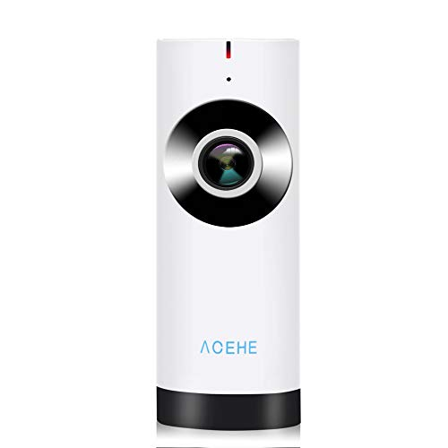 E.I.H. Panoramic Mini Baby Monitor ACEHE Wireless Camera Panoramic Mini Baby Monitor 720P HD Surveillance IP/Network/WiFi Security Camera with Night Vision by E.I.H. (Image #6)