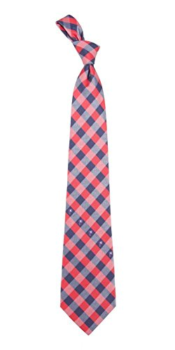 Houston Rockets Check Poly Necktie by Eagles Wings