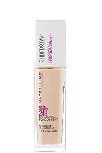 Maybelline New York Super Stay Full Coverage Liquid Foundation Makeup, Fair Ivory, 1 Fluid Ounce