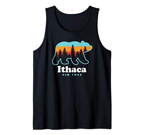 Ithaca NY - Bear Ithaca Tank Top (Best Hiking Upstate Ny)