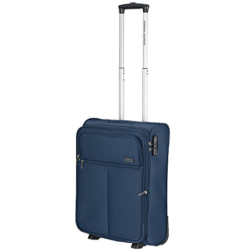 American Tourister Atlanta Heights Upright 55/20 Valigia, 40 litri, Navy Blu