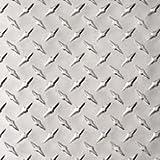 "Aluminum 3003-H22 Diamond Tread Plate .025"" x 24"" x 24"", Bright Finish, ASTM B209"