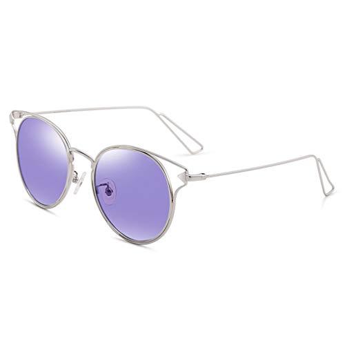 Des Sport Monture B à métal Femme Lumineux lunettes Miroir en de Femme D psychédélique Couleur de soleil Soleil Lunettes polarisées pour Vintage wIqfwRrv