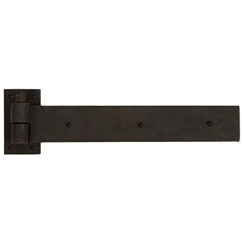 Hinges Black Powder Coat - Naiture Rectangular Iron Strap Hinge with Pintle in Black Powder Coat Finish