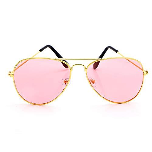 Couleur Rétro Brun 10 Murieo et Lunettes Alloy Frame Unisexe Fashion Casual soleil de Style Vert apqx8p6